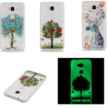 YY For Huawei Honor 5X Luminous Printing Cover TPU Case for Huawei honor 5x Silicon Back Protector Fashion Phone Cases Shell