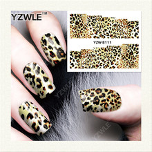 YZWLE 1 Sheet DIY Nails Art Decals Water Transfer Printing Stickers For Manicure Salon YZW-8111