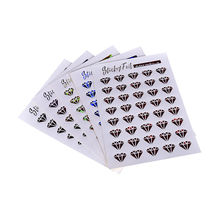 6pcs/set Diy Lips And Diamond Stickers Pack Kawaii Planner Scrapbooking Sticky Memo Sticker Stationery Wholesales