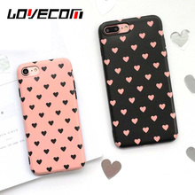 Fashion Pink Black Hearts Love Soft IMD Phone Case For iPhone 7 7 Plus  6 6S 6Pluss Back Cover Cases Bags Coque Factory Price