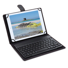 Zeepin 3 in 1 Universal Wireless Bluetooth Keyboard Tablet Case with Kickstand for iOS / Android / Windows 9 - 10.1 inch(China)