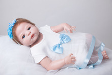 55cm Full Body Silicone Reborn Baby Doll Toys Play House Toy Newborn Girl Baby Christmas Gift Birthday Gift Girls Brinquedos Ba(China)