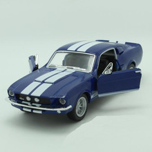 Free Shipping 1/38 Scale Classical 1967 Ford Shelby GT-500 Diecast Metal Pull Back Car Model Toy For Gift/Kids/Collection