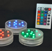 LED Multi Colors Submersible Waterproof Wedding Party Decoration Floral Vase Base Light +Remote Free shipping