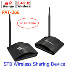 PAT-266 Smart 2.4GHz Wireless 350m AV Sender Transmitter and Receiver TV Audio Video Sender Remote IR Signal Extend US/EU/AU/UK
