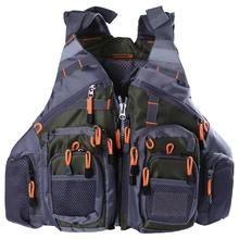 Detachable Life Vest Outdoor Fishing Vest Life Safety Jacket Swimming Sailing Floating Waistcoat Vest + Multi-layer Storage Bag