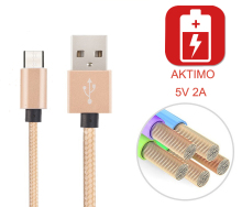 Top Quality 5V 2A Nylon Micro USB Charger Charging Sync Data Cable For Alcatel One Touch Pop iDol mini 2 5042 C5 C7 Pixi 4  Wire