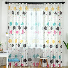Children Room Blackout Curtains Cartoon Cloud Letter Design for Kids Baby Room Modern Printed Living Room Window Curtain Drapes(China)