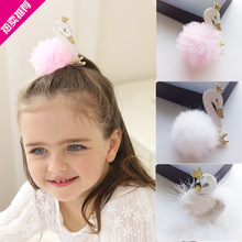 Glitter Felt Hairpin Cartoon Swan Hairball Lace Flower Hair Clip Hair Bows HairBands Hair Ties Hair Accessorie(China)