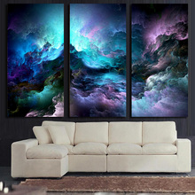 HD Printed 3 piece canvas art abstract psychedelic nebula space Painting decor panel paintings Free shipping/tt-5746