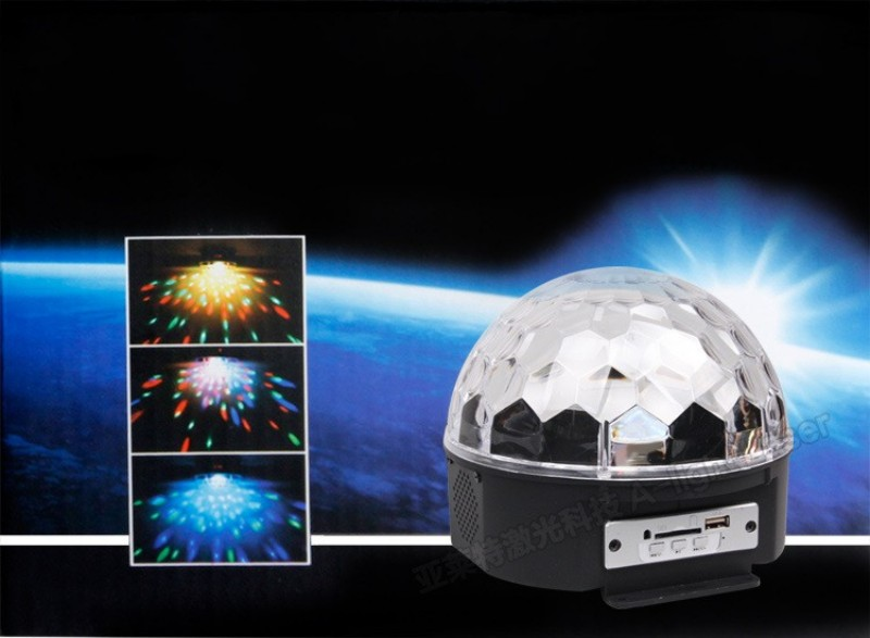 6 Colors RGB MP3 Magic Crystal Ball LED Music Stage Lamp with USB Disk Remote Control Laser Light Home Party Lighting Effect<br><br>Aliexpress