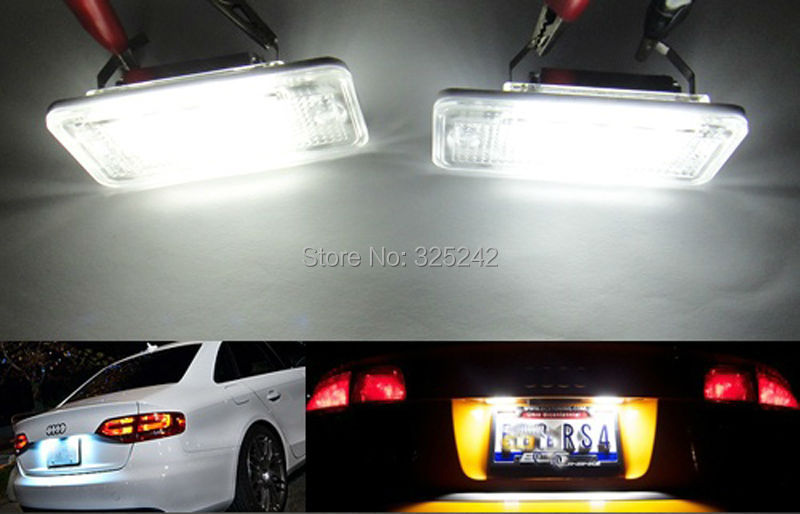 For Audi A3 S3 A4 S4 A6 C6 S6 A8 S8(D3) Q7 RS4 RS6 No OBC error Excellent Ultra bright 3528 Epistar Led License plate lamp light<br><br>Aliexpress