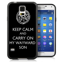 Keep Calm AND Carry On My Wayward Son Phone Case For Samsung Note 3 Note 4 Note 5 S3 S4 S5 S7 S6 edge plus Soft TPU Case Cover