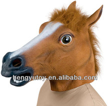2013 Adult Vintage Full Head Latex horse Costume & cro Latex Props horse Mask for Christmas