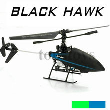 wholesale Sanhuan 4ch 2.4G single blade black hawk rc helicopter model 6032(China)