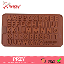 26 English letters modelling silicone chocolate mould fondant mold Accord to the food safety certification of FDA USA(China)