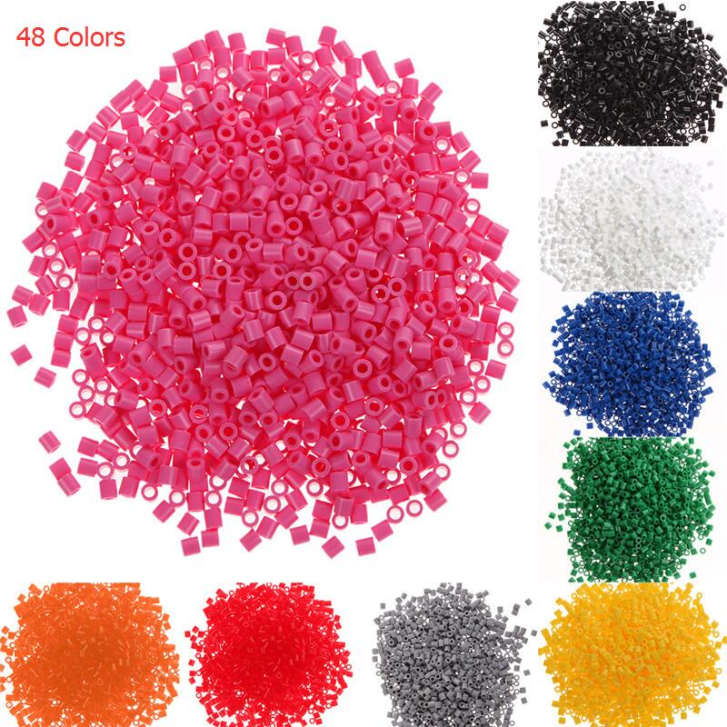 Hot Sell 1000Pcs 5mm Hama Perler Beads EVA Kids Children DIY Handmaking Fuse Bead Intelligence Educational Toys Craft 48 Colors(China)