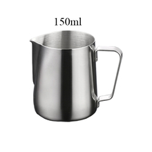 150ML Japanese Style Espresso Coffee Milk Mugs Cup Pots Jug Handle Craft Coffee Garland Cup Latte Jug Thickened Stainless Steel(China)