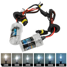 Durable 2pcs 55W H7 Car HID Xenon Replacement Auto Light Source Headlight Lamp Bulb AC12V 4300K 6000K 8000K 10000K 12000K
