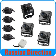 AHD Car camera+5m video cable+microphone package sale for Russia