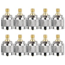 Hot Sale 10 Pcs Adapter PL259 UHF Plug Male To SMA Female Jack RF Connector Straight PTFE Nickel Plating Gold Plating