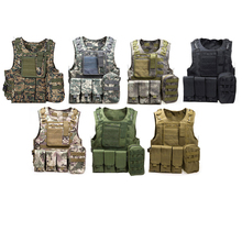 New Men's Tactical Military Molle Vest Waistcoat Combat Assault Plate Carrier Steel Wire Camo Black Tan Outdoor Vest Accessories(China)
