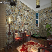 beibehang PVC imitation stone wallpaper special cultural stone hall backdrop hotel restaurant decoration wallpaper(China)