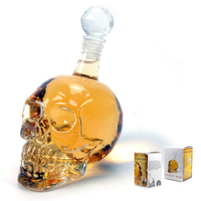 Creative Whisky Glass Crystal Skull Head Whiskey Vodka Bottle Wine Decanter Bottle Beer Spirits Gifts Cup Water Glass Bar(China)