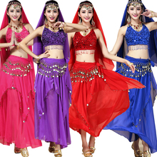 Female Indian Party Dance DS Club Singer Clothing Belly Dancing Costume Dress For Women Girls Bellywood Ballroom Stage wear(China)
