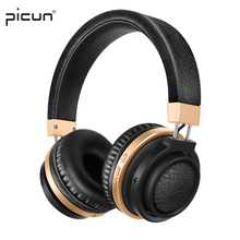 Picun P3 Bluetooth Headphone With Mic. Support TF Card MP3 Wireless Earphone Stereo HiFi Music Headset for Xiaomi iPhone Gaming(China)