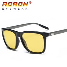 AORON Brand Original Men Women Polarized Sunglasses Driving Night Vision Goggles Glasses oculos de sol Eyewear A38711(China)