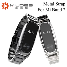 Mijobs Metal Strap For Original Xiaomi Mi Band 2 Stainless Steel Bracelet For MiBand 2 Wristbands Accessories For Mi Band 2
