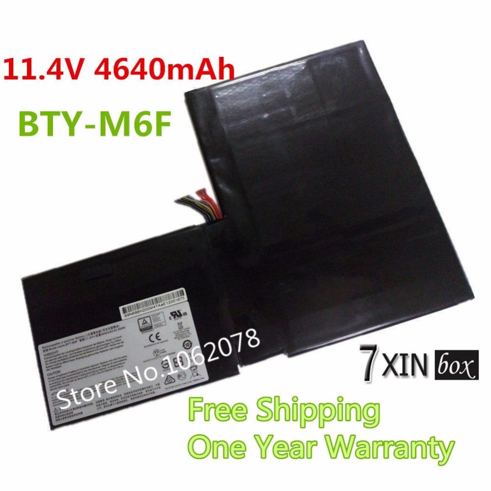 11.4V 4640mAh New BTY-M6F Battery For MSI GS60 GS60 2PC-010CN PX60 MS-16H2 2PL 6QE 2QE 2PE 2QC 2QD 6QC <br><br>Aliexpress