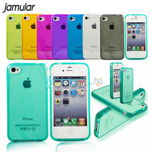 Ultra thin Transparent CLEAR JELLY TPU Gel Soft Silicone Phone Case For iPhone 8 7 Plus 4 4S 5 5S 5G SE 6 6s Back Cover Fundas
