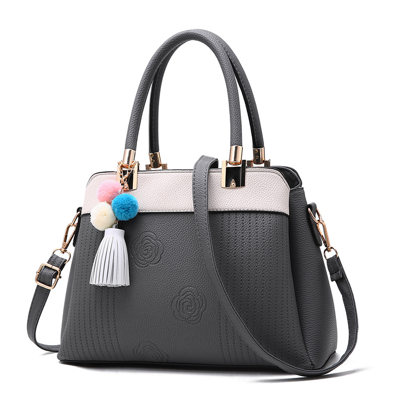 Women Leather Handbags Tassel Shoulder Bag Womens Flower Tote Bags Female PU Leather Lady Designer Handbags Crossbody Bag<br>