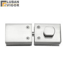 High quality,Glass Door Latches Lock/bolt,8-12mm glass,no drilling,for Bathroom Double/single glass door, Frameless glass door