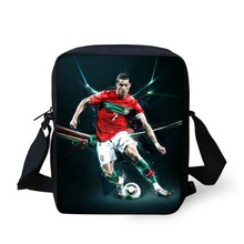 Mini Children Messenger Bag 3D Printing Star C Ronaldo Cross Body Mochila Kids Schoolbag for Boys Student One(China)