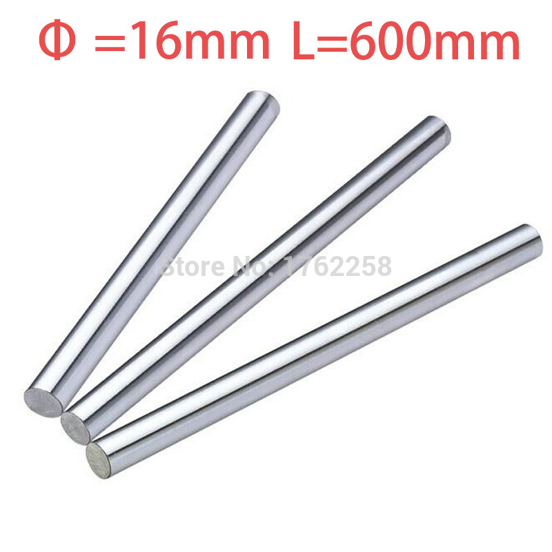 1pcs 16mm 16x600 linear shaft 3d printer 16mm x 600mm Cylinder Liner Rail Linear Shaft axis cnc parts<br>