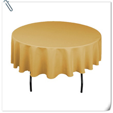 "Big Discount & Factory Price!!!  108"" Dia 10PCS  Gold  ROUND TABLECLOTH BANQUET WEDDING SATIN TABLE CLOTH FREE SHIPPING"