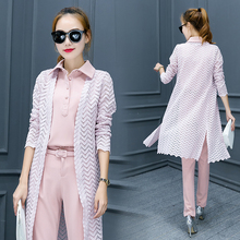 Buy 2017 fashion women 3 piece set spring Autumn suit female fashion long sleeve lace cardigan work clothes 2 piece set women sets for $21.42 in AliExpress store