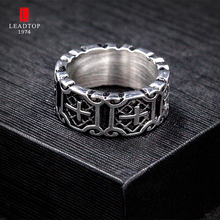 Hot Sale Etherial Handmade Cross Ring Crucifix Ring Medieval Knight Ring Silver Cross Templar Ring In Stainless Steel For MEN(China)