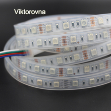 12V led strip 5050 non ip65 ip67 tube Waterproof 60leds/m led stripe diode tape light led rgb fita Christmas lamp(China)