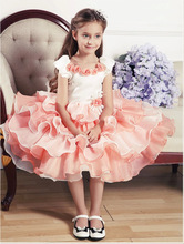 2017 Brand Girls Summer Dress Princess Dress Children's Wear Party Flower Girl Wedding Flower Mesh Ball Gown Beautiful Dress