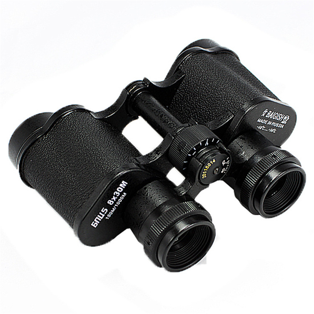 All metal 8X30  150m/1000m Russian Hd wide-angle Central Binoculars Telescope High Power Low Light Level Night Vision Glasses<br>