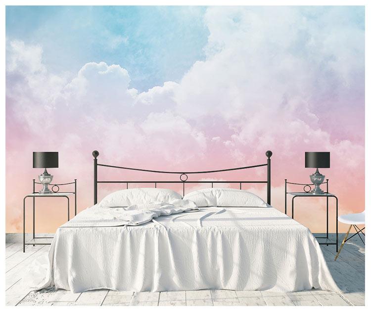 HTB1lDO6fmcqBKNjSZFgq6x kXXaf - Pink Sky Cloud 3d Cartoon Wallpaper Murals for Girls Room