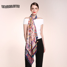 Luxury Larges Silk Scarves Square Brand Chinese Style Accessories Printed Floral Fashion Winter Women Scarf 2016 90*90 CM