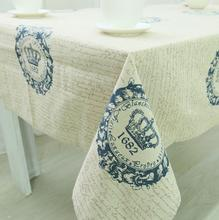 New Arrival Table Cloth Classical Design Big Crown High Quality Cotton Universal Tablecloth Decorative Table Cover Hot Sale