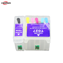 compatible Refillable ink cartridge for T026 T027 for EPSON Stylus Photo 810/820/830/830U/925/935 Printers with auto reset chip(China)