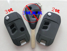 Modified Flip Folding Remote Key Case Shell For Subaru Legacy Outback 2 Button/3 Button Fob Key Cover(China)