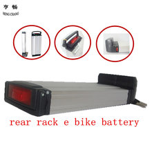 36v 13ah bike battery rear rack style with charger e-bike battery pack(China)